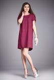 Raccolta del modello di trucco di usura dei vestiti del vestito dalla donna Immagini Stock Libere da Diritti