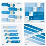 Raccolta del modello pulito delle insegne di numero di progettazione Vettore Fotografia Stock