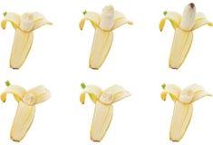 Raccolta del morso della banana Fotografie Stock