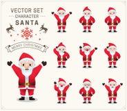 Raccolta del Natale Santa Claus Fotografie Stock
