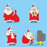 Raccolta del Natale Santa Claus royalty illustrazione gratis