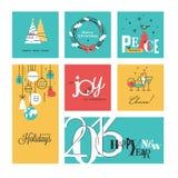 Raccolta del nuovo anno e di Natale illustrazione di stock