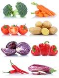 Raccolta del peperone dolce delle patate dei pomodori delle verdure isolata Fotografie Stock