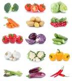 Raccolta del peperone dolce l del cetriolo dei pomodori delle carote delle verdure Fotografia Stock Libera da Diritti
