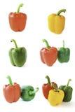 Raccolta del peperone dolce su bianco Immagini Stock Libere da Diritti