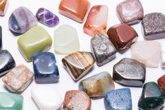 Raccolta del preciou differente del minerale del gioiello della gemma della pietra preziosa di colore Fotografia Stock