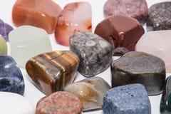Raccolta del preciou differente del minerale del gioiello della gemma della pietra preziosa di colore Immagine Stock