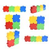 Raccolta del puzzle Immagine Stock