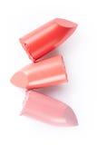 Raccolta del rossetto su bianco Immagine Stock