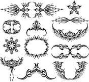 Raccolta del tatuaggio della fiamma Fotografia Stock Libera da Diritti