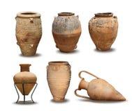 Raccolta del vaso di Minoan e dell'oggetto d'antiquariato Fotografia Stock