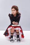 Raccolta dell'abbigliamento della ragazza del vestito piccola sveglia Fotografia Stock Libera da Diritti