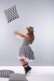 Raccolta dell'abbigliamento della ragazza del vestito piccola sveglia Immagini Stock Libere da Diritti