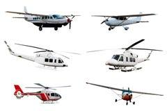Raccolta dell'aeroplano e dell'elicottero Immagine Stock