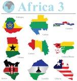 Raccolta 3 dell'Africa Immagini Stock Libere da Diritti