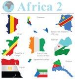 Raccolta 2 dell'Africa Fotografia Stock