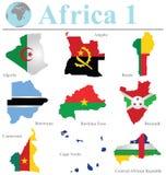 Raccolta 1 dell'Africa Immagine Stock