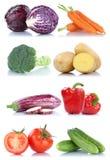 Raccolta dell'alimento fresco delle carote del cetriolo del peperone dolce delle verdure Immagini Stock