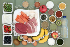 Raccolta dell'alimento salutare del body building Fotografia Stock