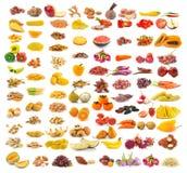 Raccolta dell'alimento su bianco Fotografia Stock Libera da Diritti