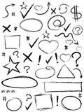Raccolta dell'elemento di progettazione dello scarabocchio royalty illustrazione gratis