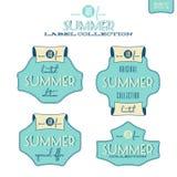 Raccolta dell'etichetta di estate Fotografia Stock
