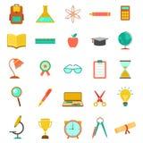 Raccolta dell'icona di istruzione Fotografie Stock