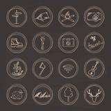 Raccolta dell'icona di scarabocchio di schizzo Fotografia Stock