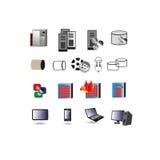 Raccolta dell'icona di tecnologia dell'informazione, simboli royalty illustrazione gratis