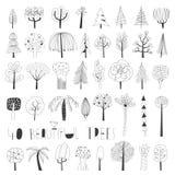 Raccolta dell'illustrazione dell'albero di vettore Fotografia Stock