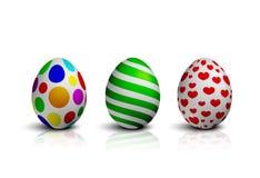 Raccolta dell'illustrazione di vettore delle uova di Pasqua Immagine Stock Libera da Diritti