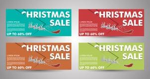 Raccolta dell'insegna di vendita di Natale EPS10 Fotografia Stock Libera da Diritti