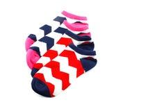 Raccolta dell'isolato colorato dei calzini su fondo bianco Immagine Stock Libera da Diritti