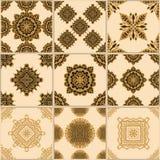 Raccolta dell'ornamento del pavimento non tappezzato illustrazione di stock