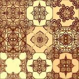 Raccolta dell'ornamento del pavimento non tappezzato illustrazione vettoriale