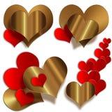 Raccolta dell'oro del cuore Immagini Stock