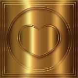 Raccolta dell'oro del cuore Fotografia Stock Libera da Diritti
