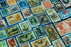 Raccolta dell'Unione Sovietica dei francobolli vecchia fotografie stock libere da diritti
