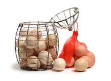 Raccolta dell'uovo Fotografia Stock