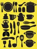 Raccolta dell'utensile della cucina Fotografia Stock Libera da Diritti