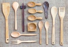 Raccolta dell'utensile della cucina Fotografia Stock