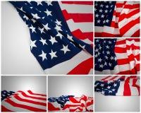 Raccolta della bandiera americana Fotografia Stock