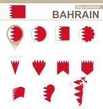 Raccolta della bandiera del Bahrain royalty illustrazione gratis