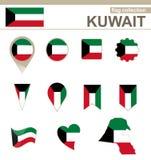 Raccolta della bandiera del Kuwait royalty illustrazione gratis