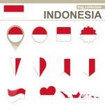 Raccolta della bandiera dell'Indonesia royalty illustrazione gratis