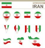Raccolta della bandiera dell'Iran illustrazione vettoriale