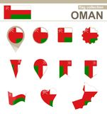 Raccolta della bandiera dell'Oman royalty illustrazione gratis