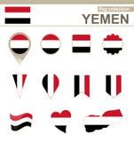 Raccolta della bandiera dell'Yemen illustrazione vettoriale