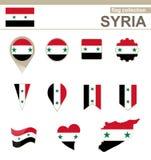 Raccolta della bandiera della Siria illustrazione vettoriale