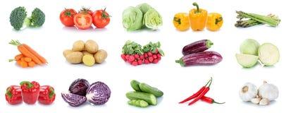 Raccolta della campana della melanzana del cetriolo dei pomodori delle carote delle verdure Fotografie Stock
